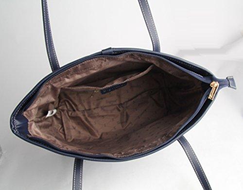 Borsa tote per Università donna di Signare a spalla in tessuto stile arazzo Ramo di salice