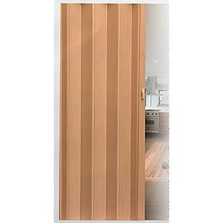 Falttür Schiebetür Tür buche farben mit Schloß / Verriegelung Höhe 202 cm Einbaubreite bis 109 cm Doppelwandprofil Neu TOP-Qualität