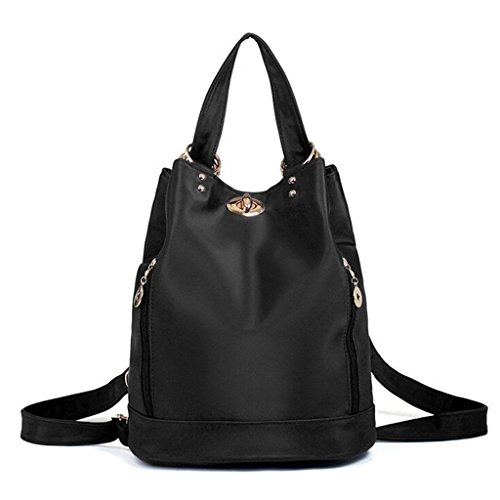 ZY&F Rucksack wasserdicht Nylon Ms. Taschen Tuch Reisetasche Ms. Kosmetikum Umhängetasche schwarz lila grau Black