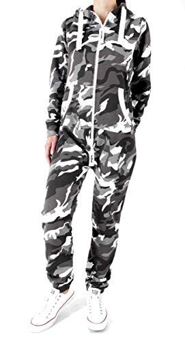 Camo Kostüm Overall - Finchgirl 32S23 FG18R Damen Jumpsuit Overall Camo Grau M
