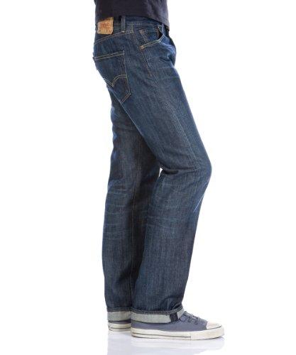Levi's Herren Jeanshose 501 Original Straight Blau (Hard Ground 0007)