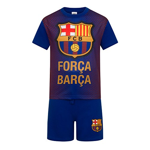 FC Barcelona Official Football Boys Sublimation Short Pyjamas Blue 6-7 Years 32979b09c7b