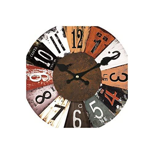 Jane Love Wall Clock Wanduhr, buntes Design, Klassische Reloj Wanduhr, geräuschlos, Wohnzimmer, Wanddekoration, Uhr, Geschenk Diameter 14inch 12822 - Face Uhr Dual Damen