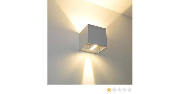 Futur print w applique cubo led impermeabile da esterno a luce
