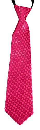 Cravate à Paillette en in noir, argenté, rouge, rose, neon, orange, vert, doré, pink pink