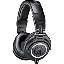Audio-Technica ATH-M50x Over-Ear Professional Studio Monitor Headphones (Black)