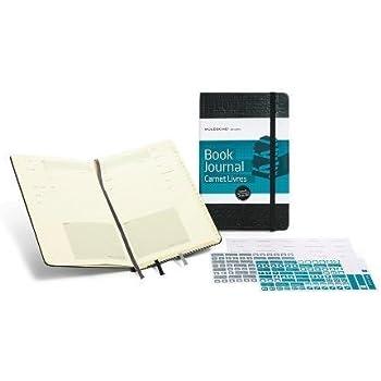 Moleskine Passion-Journal Bücher Large, Hardcover mit Prägung schwarz