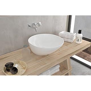 Art & Bath LAV. Saja Waschbecken auf Waschtischplatte, weiß-glanz, L