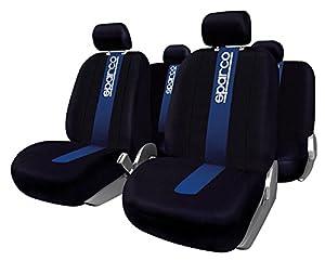 asientos: Sparco SPC1011 Juego de fundas para asientos de coche, color negro y azul, model...