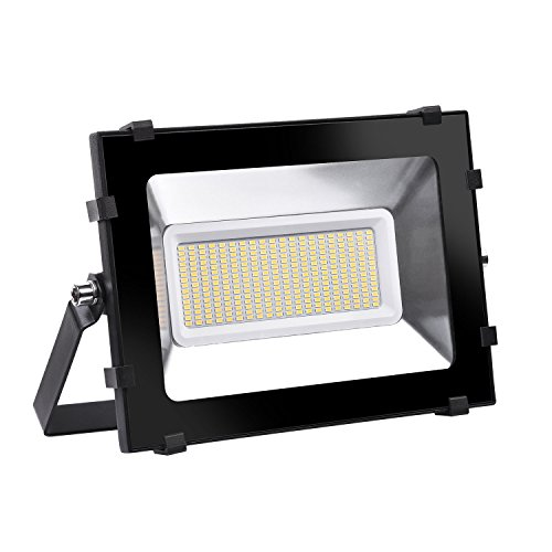 Viugreum 150W Focos LED Exterior Proyector Impermeable IP65 Iluminación de Exterior para Patios, Caminos, Escaleras, Jardines, Fábricas, Muelles, Estadios - Blanco Cálido
