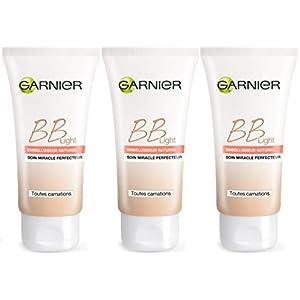 Garnier Skin Naturals – BB Cream Light, Maquillaje creama (potenciador natural 5-en-1), pack de 3 unidades