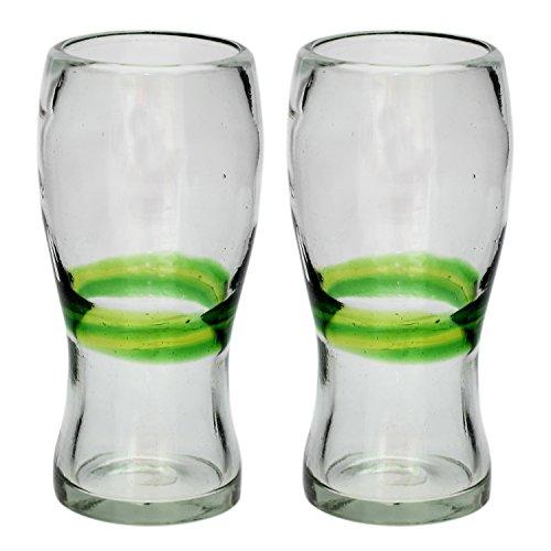 vaso-cervecero-pinta-artesanal-vidrio-reciclado-verde-mezclado-juego-de-2