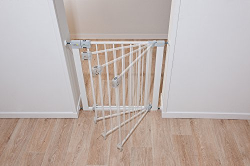 Safety 1st Auto Close Treppenschutzgitter, selbstschließend aus jedem Winkel, Türschutzgitter zum Klemmen, weiß, bis 136 cm verlängerbar - 3