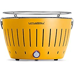 LotusGrill Holzkohlengrill Serie 340, Farbe Korn, 35 x 26 x 23.4
