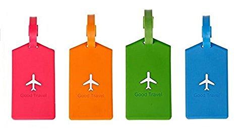 [Paquete de 4] Etiqueta para equipaje - Avión - NOVAGO ®