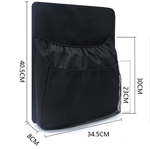 Kapazität Cd-ablage (Yeying123 Standard Car Seat Back Organizer Protector Und Kick-Matte Multi-Pocket Reise Aufbewahrungstasche,Onepiece)