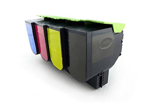 Green2Print Toner Toner set 4 cartridges 13000 pages replaces Lexmark 80C0H10 800H1 80C0H20 800H2 80C0H30 800H3 80C0H40 800H4 80C2HC0 802HC 80C2HCE 802HCE 80C2HK0 802HK 80C2HKE 802HKE 80C2HM0 802HM