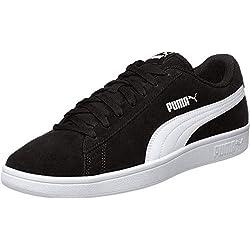 Puma Puma Smash v2, Sneakers Basses mixte adulte - Noir (Puma Black-Puma White-Puma Silver), 42 EU