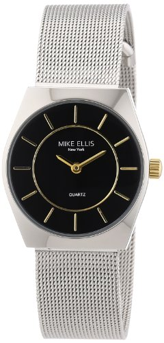 Mike Ellis New York Damen-Armbanduhr XS Analog Quarz Edelstahl L1126ASM/2