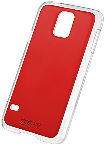 goo.ey - selbsthaftendes Case für Apple iPhone 5 / 5S - (Transparent) rot