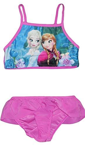 Disney Frozen Anna Elsa Costume da Bagno (8/9 Anni (128/134 cm), Rosa)