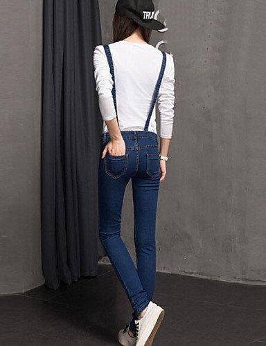 GSP-Pantalon Aux femmes Décontracté / Grandes Tailles Polyester blue-s