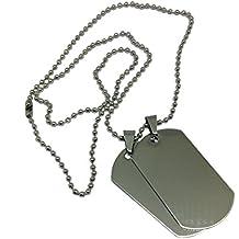 miglior servizio 6048a 43b41 Amazon.it: piastrine militari personalizzate - Argento