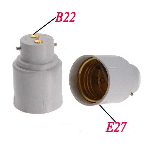 Sonline 2X vis E27 a culot a baionnette B22 ampoule lampe adaptateur convertisseur Socket base