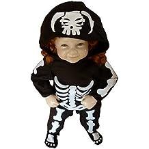 F70 Taglia 1-2A (86-92cm) Costume Scheletro per neonati e bambini,