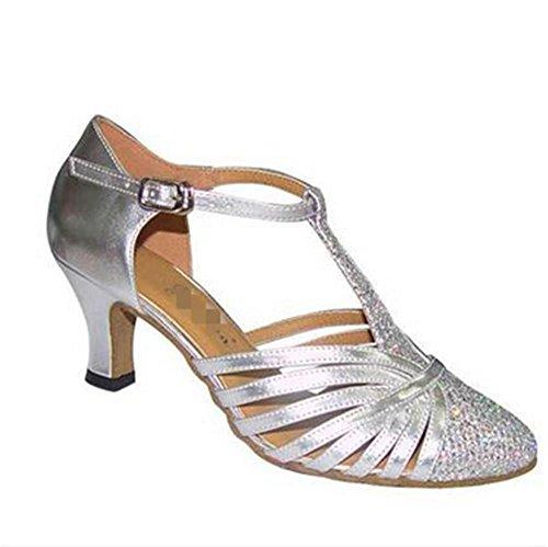 Weiblich Latin Schuhe / International Dance / Paso Doble / Lombardei Schuhe Silver