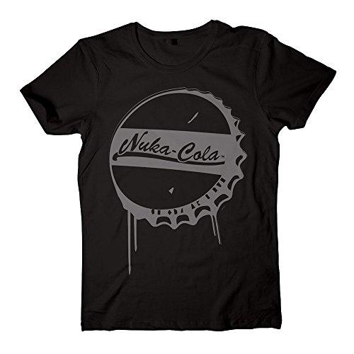 Fallout Nuka Cola Bottle Cap-T-shirt  Uomo    Black X-Large