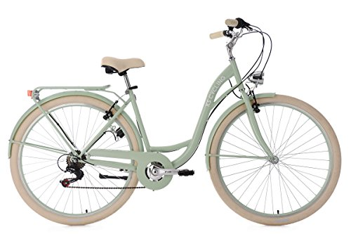 KS Cycling Damen Damenfahrrad 28'' Balloon grün RH 48 cm Fahrrad, 28