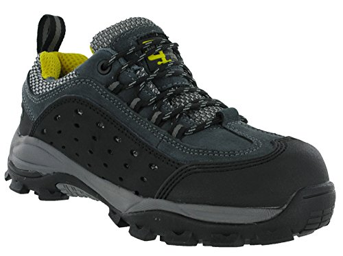 Grafters - Zapatillas de trabajo/Seguridad Laboral con puntera no metálica completamente integrada muy ligera para hombre (45 EU/Gris oscuro) Q9KUkktVL6