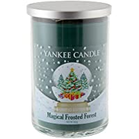 Yankee Candle Magical Frosted Forest 2-Wick Cylinder Tumbler Candele, Vetro, Verde, 9.6 x 9.5 x 13.9 cm