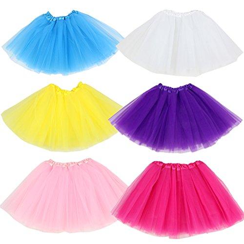 kilofly Mädchen Ballett-Tutu für Kinder, Prinzessinnen-Party, 6 - Tutu Couture Kostüm
