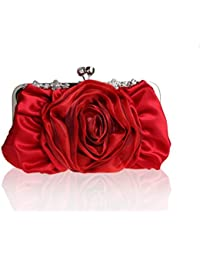 Tom Clovers Bolso de Mano de Satén Flores Bolso de Fiesta Bolso de Boda Bolso para Salir para Mujer Regalo Fino para Mujeres Varios Colores
