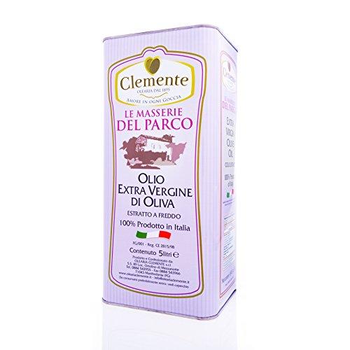 Olio clemente - 1 latta di olio extra vergine di oliva, 100% italiano, le masserie del parco, 5 litri