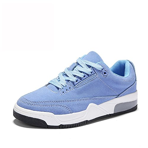 No. 55 Shoes xiaolin Scarpe a Fondo Piatto Spesso Scarpe da Corsa Scarpe Sportive Scarpe da Donna Blu
