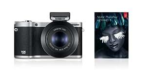 Samsung SMART NX300 Compact System Camera with 45mm 3D Lens - Black (20.3 MP, CMOS Sensor) 3.3 inch Amoled