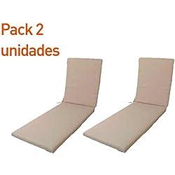 Pack 2 cojines lux para tumbona de piscina