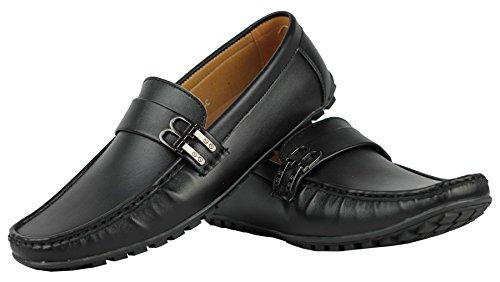 En simili cuir avec boucle pour B Smart Chaussure décontractées Loafers Noir - noir