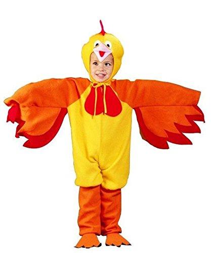 Kostüm Huhnkostüm Hühnerkostüm Hahnkostüm Huhn Hahn Hühnchen für Kinder Kinderkostüm Gr. 116 - 128 / (Huhn Kostüme Kinder)