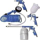 Scheppach 3906101704 tillbehör f.Kompressor 5 st. Spiralslang trycklackeringsspray- och lufttryckpistol