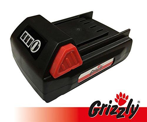 Grizzly Akku 18V, 1,5 Ah für Akku Heckenschere CH 1800, Akku Rasentrimmer CT 1800 (Ersatz Rasentrimmer)