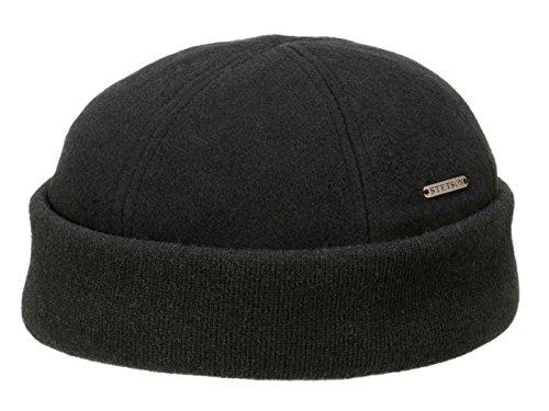 bonnet-sparr-docker-stetson-bonnet-en-laine-bonnet-ample-s-54-55-noir