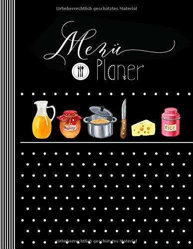 Menü Planer: Menüplaner Woche + Monat mit Einkaufsliste, 143 Seiten Essplan Für 1 Jahr - Essensplaner, Mahlzeitenplaner Log Prep Plan Buch Kalender - Kochplan Einkauf Essensplanung Vordruck Planner (Kalender-buch Monatlich)