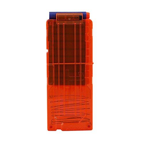 Goolsky 12 Schnell Reload Clip Zeitschriften Runde Darts Ersatz Plastik Spielzeug Pistole Carrier Soft Bullet Transparente Storage Clips für Nerf N-Strike Patrone (Carrier Storage)