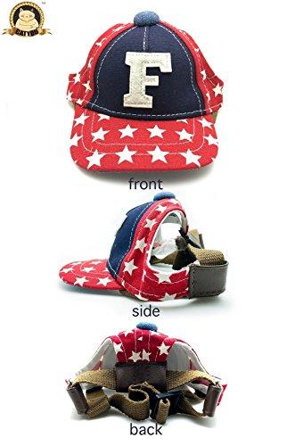 catyou Pet Dog Cat Baseball-Cap, Canvas Hat mit Ohrenaussparung, verstellbar, Cosplay Kostüm Zubehör mit Kopfbedeckungen für Haustier