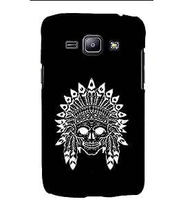 YuBingo Designer Printed Plastic Mobile Back Case Cover Panel for Samsung Galaxy J1 (6) 2016 ( Stylish Skull )