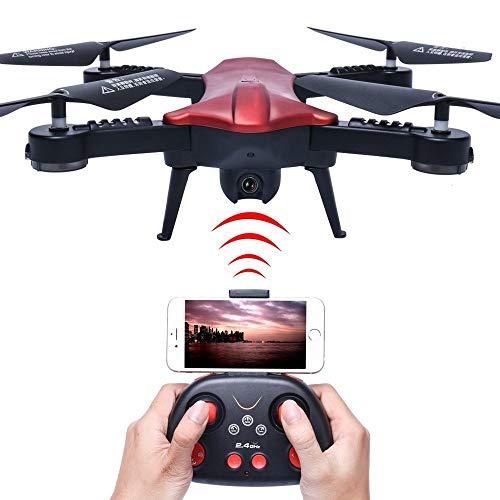 RCDNE WiFi 720 P HD Telecamera FPV Quadcopter 2.4 GHz 6 Assi Gyro RC Quadricottero con Fotocamera Pieghevole Arm Altitudine Tenere Pocket Drone